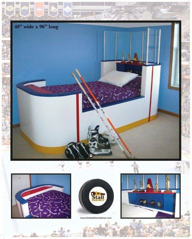 Hockey bed mark lindeman for Decoration chambre hockey