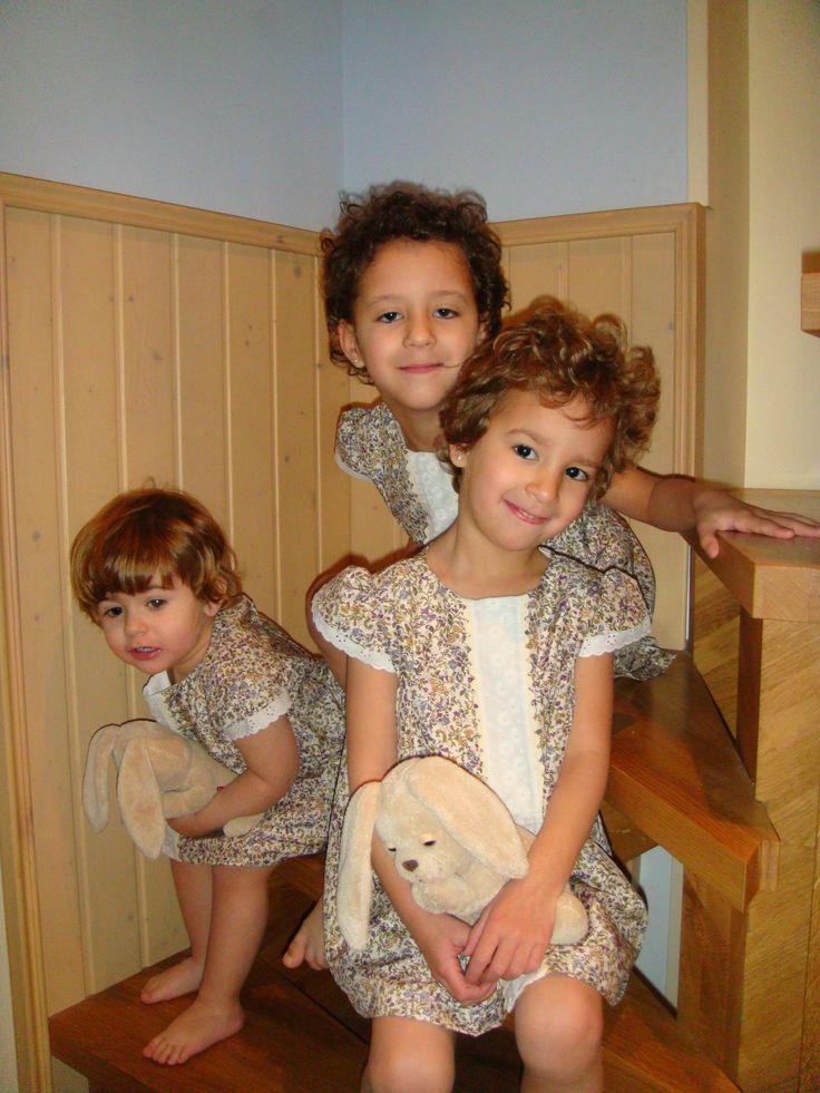 Salma, María y Clara con el vestido Celia!