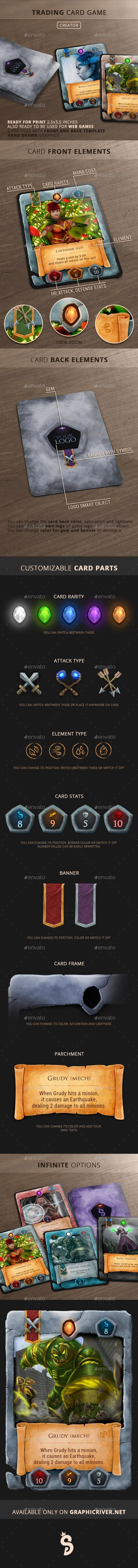 #Trading #Card #Game - Creator - Miscellaneous Print Templates