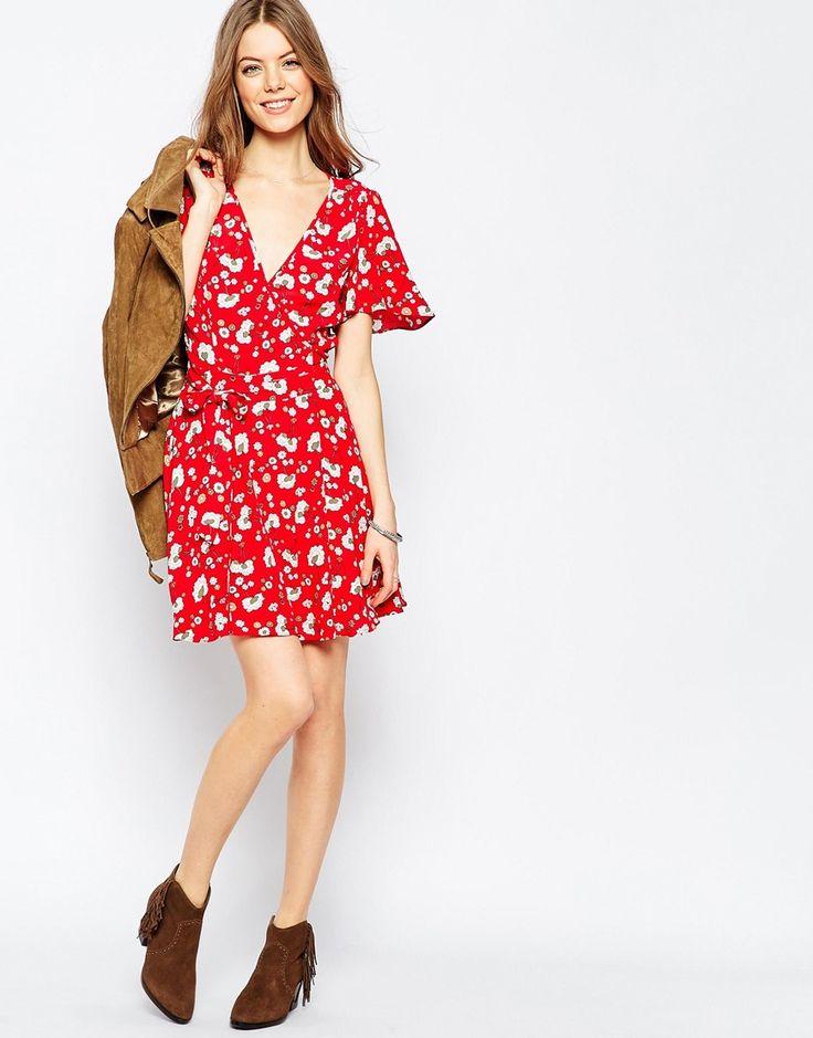 Image 4 - ASOS - Robe cache-cœur à imprimé floral
