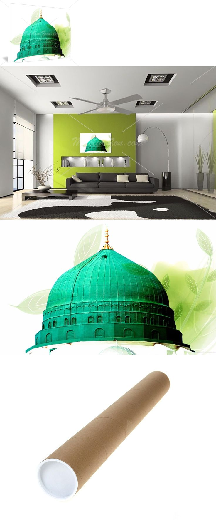 Stretched Canvas and Boards 125229: Al-Masjid An-Nabawi Dome #1 Islamic Gallery Canvas Ramadan Eid Home Decor Gift -> BUY IT NOW ONLY: $39.95 on eBay!