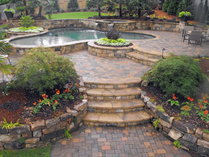 Hardscape Back Yard Design Ideas