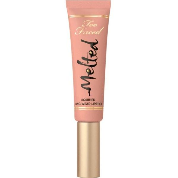 TOO FACED Melted lipstick found on Polyvore featuring beauty products, makeup, lip makeup, lipstick, filler, too faced cosmetics, long wearing lipstick and long wear lipstick