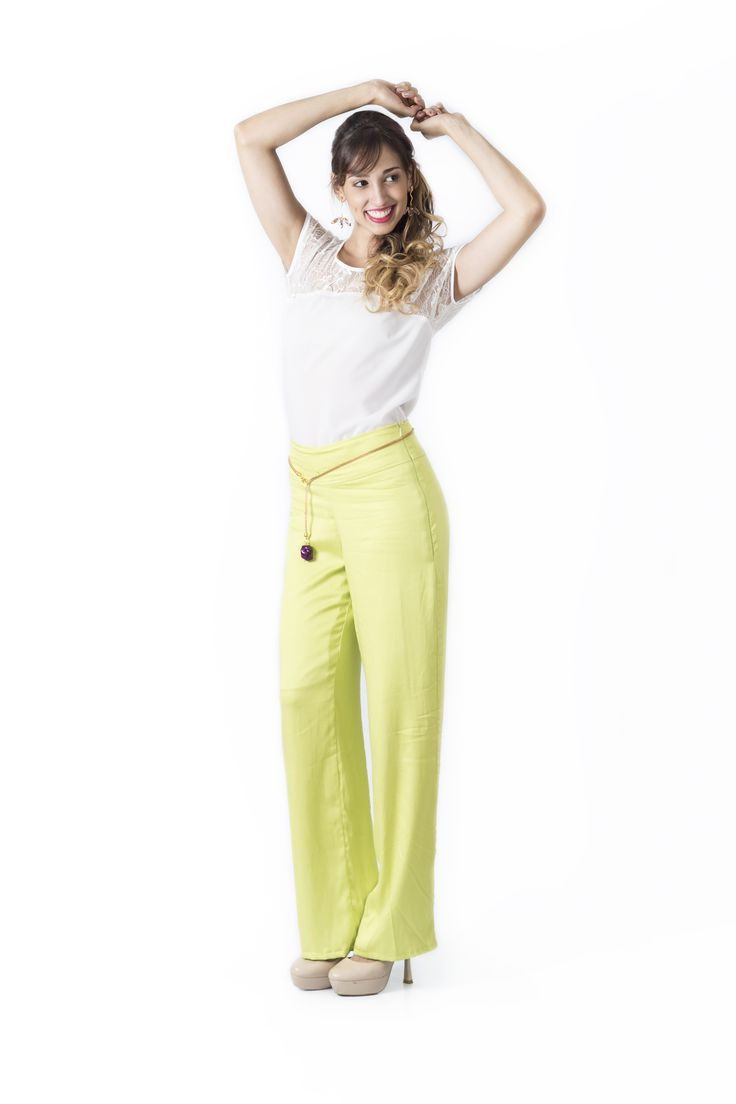 Bosque Paraíso Collection REF: BLOUSE BL0006, PANTS PA0005  SIZE: XS-1W Material blouse: Silk Chiffon Polyester/spandex 97/3, Material pants: Rayon/spandex 97/3  Colors Blouse: white,black,geen jade, tangerine  Colors pants: pistachio green , mint, black, brown.