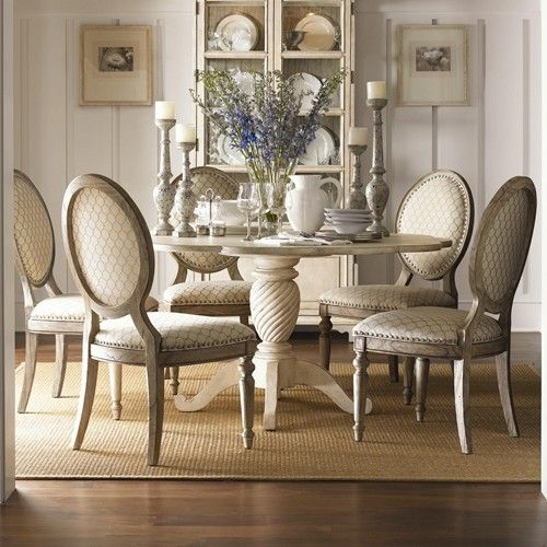 Twilight Bay 7 Piece 60 Barrett Dining Table Byerly Side Chairs Set By Lexington