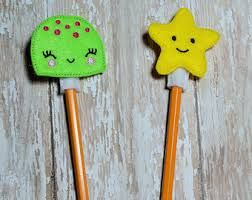 felt pencil toppers - Google Search