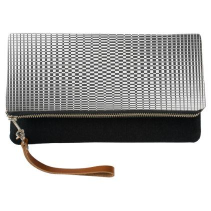 Shimmer - Black on Transparent Clutch - black and white gifts unique special b&w style