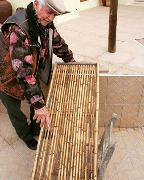 Handmade tool to separate olives And the leaves! #handmade #algarve #traditional #projectotasa #craftsman