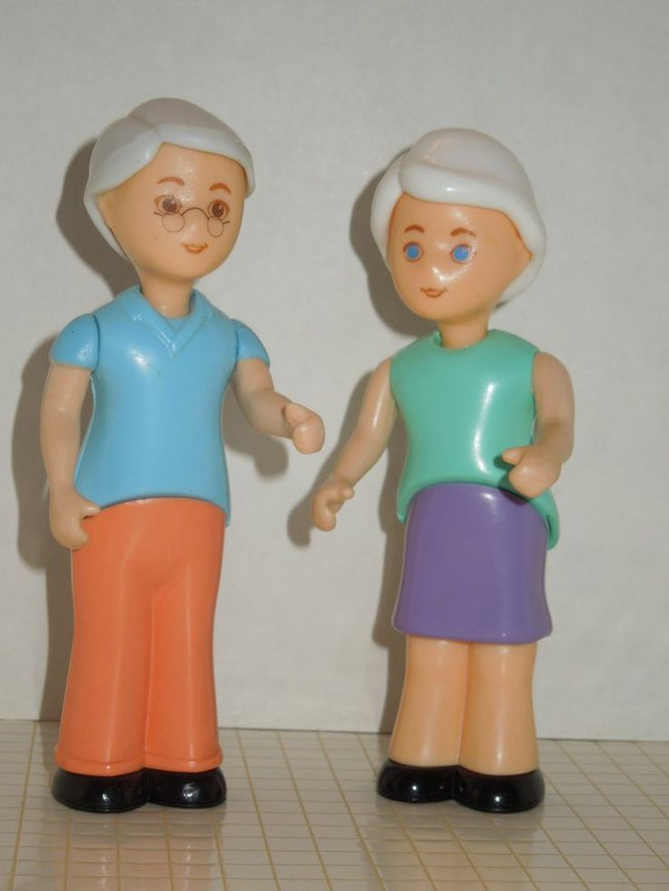 Rare Little Tikes Dollhouse Grandparent Figures, Grandpa -2476