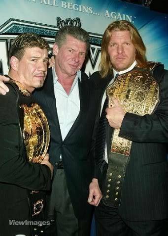 Eddie Guerrero, Vince McMahon & Triple H