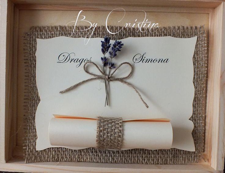 burlap and lavender wedding