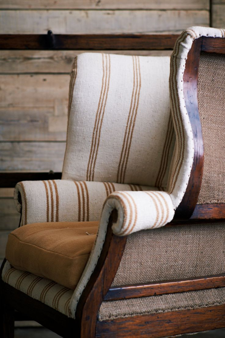 Pin french cafe style chair in red by ines cole on pinterest - Hepplewhite Wing Chair Ralph Lauren Home Great Fabric For The Lake