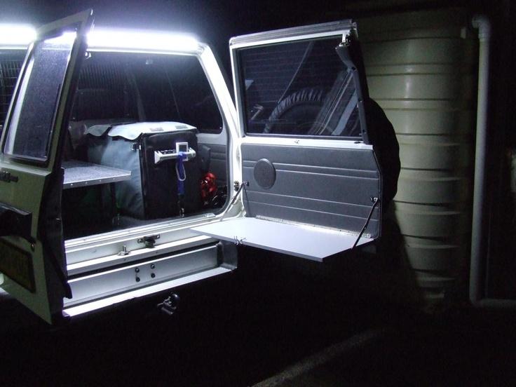 Lit by LED lights over back door