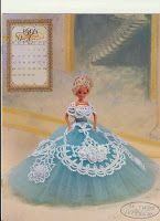 Crochet Ball Dress for Barbie Step by Step in Portuguese
