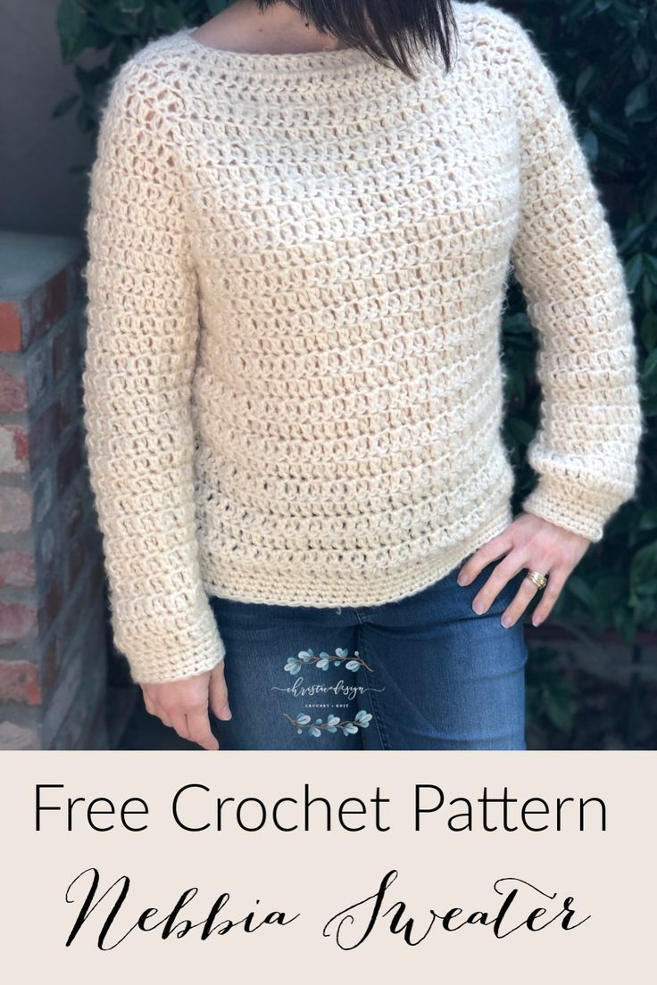 Nebbia Sweater Free Crochet Pattern in 2020 (With images