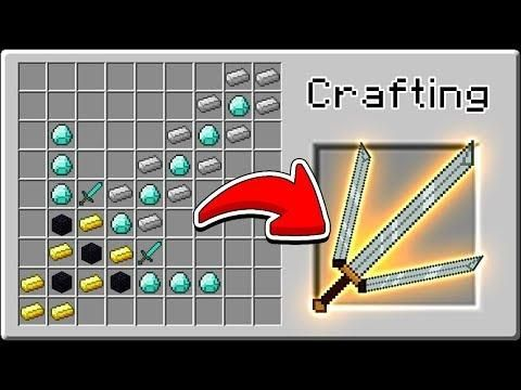 Crazy Minecraft How To Craft The Ultimate Weapon Secret Recipe Minecraft Minecraft Creations Crafts