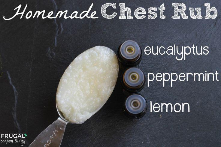 Homemade Chest Rub Recipe using Essential Oils, Eucalyptus, Peppermint, and Lemon