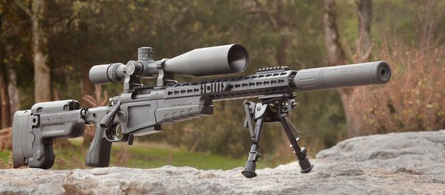 Surgeon rifle .308, Nightforce scope, AWC suppressor