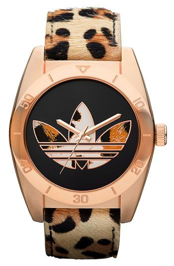 adidas Originals 'Santiago' Leopard Print Watch | Nordstrom