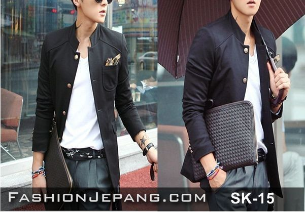Jual Jaket, Jaket korea, fashion cowok, jogja Blazer Jaket Korea SK-15