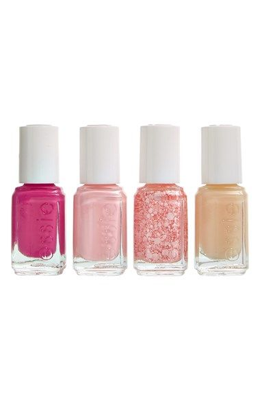 Free shipping and returns on Essie  'Breast Cancer Awareness' Mini Four-Pack at Nordstrom.com. essie's Breast Cancer Awareness Collection features beautiful nail polish hues that raise awareness while making your nails gorgeous.<br><br>Colors include:<br>- I Pink I Can<br>- Pink Happy<br>- Pink About You<br>- Grow Stronger Base Coat