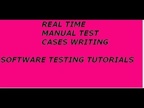 Manual Testing Test Case writing