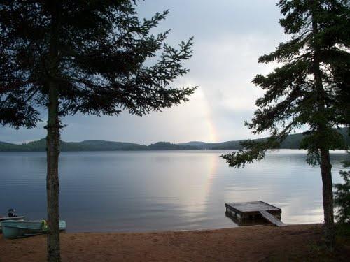 Barry's Bay, ON--rainbow on Carson Lake.  (Madawaska Valley region)