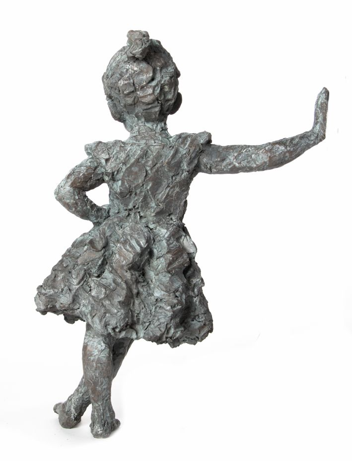 An original work by Toby Megaw entitled: Cheeky, bronze, h 89cm. For more please visit www.finearts.co.za