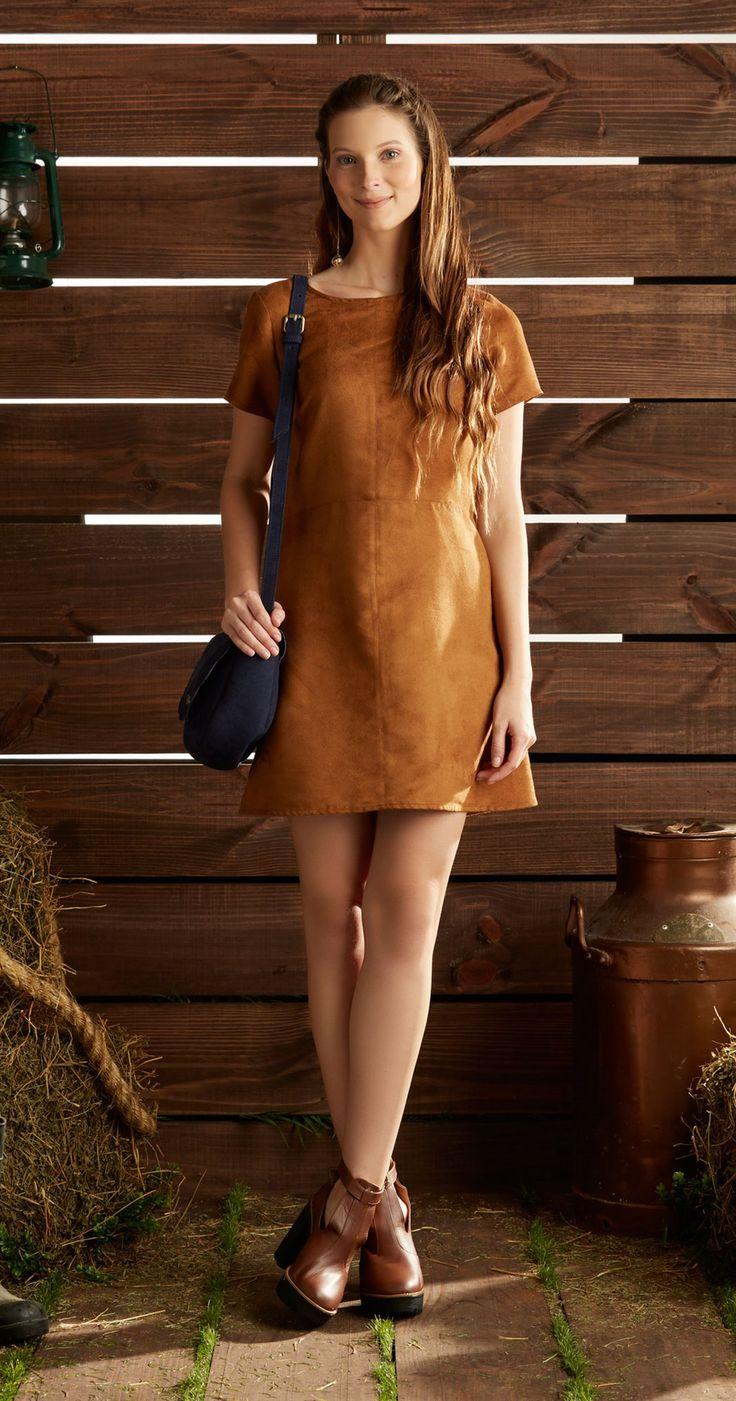 Só na Antix Store você encontra Vestido Recortes Suede com exclusividade na internet