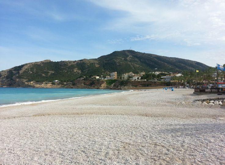 A beach in Albir in the Province of Alicante, Spain
