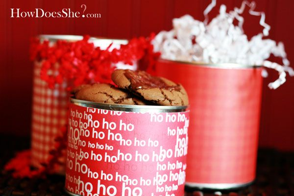 Save those empty formula cans and decorate and fill with cookies!