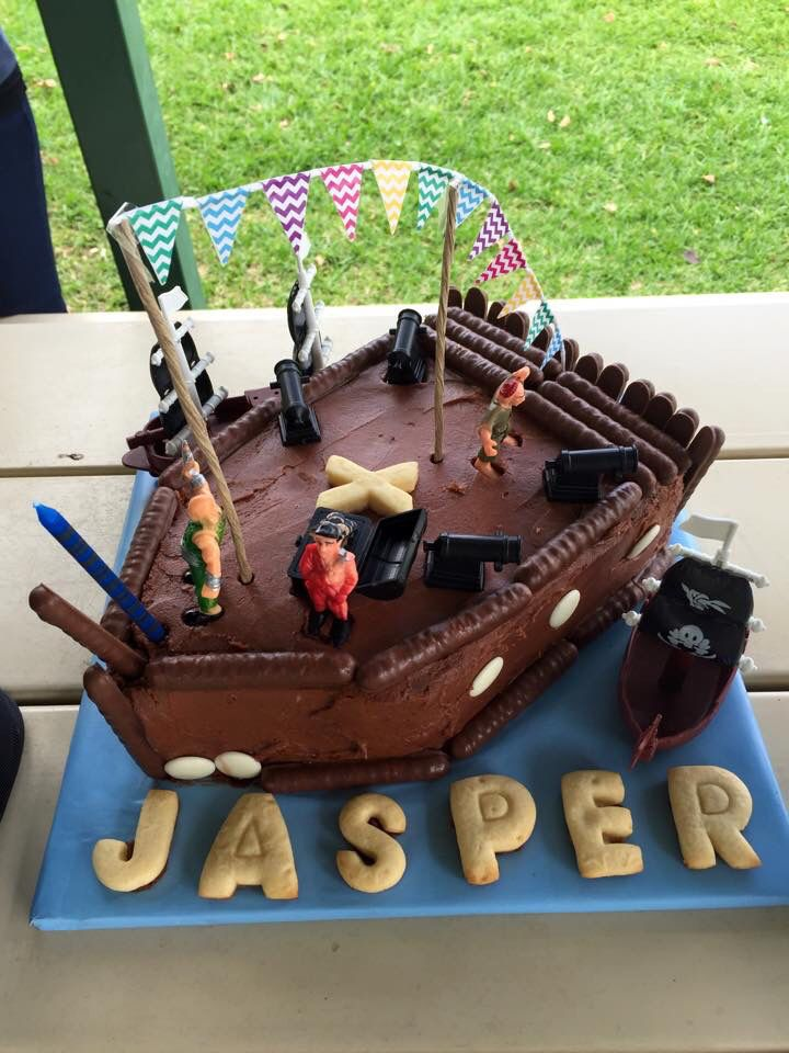 1st birthday pirate cake