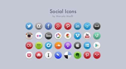 Social Icons by Marcelo Marfil 72 free icons... |