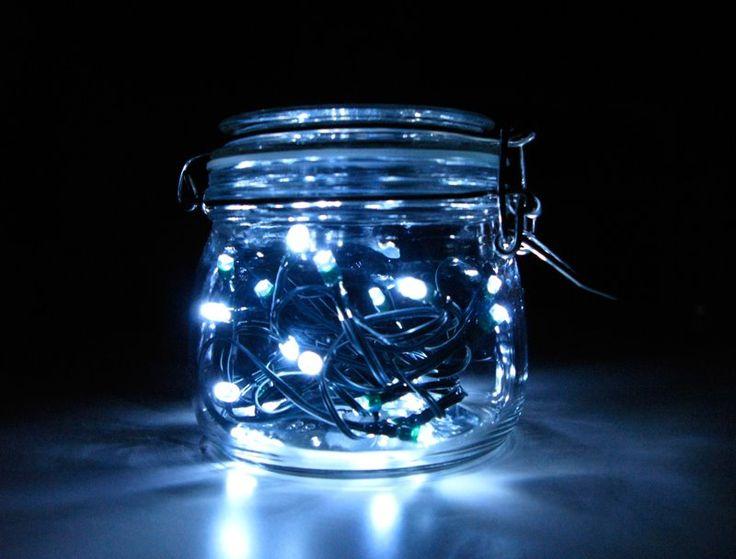 Maybe We Could Use Christmas Lights And Mason Jars To Make