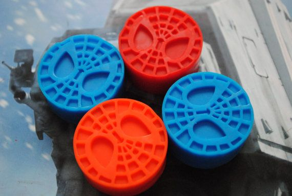 Spiderman Soaps x 4 by NerdySoap on Etsy