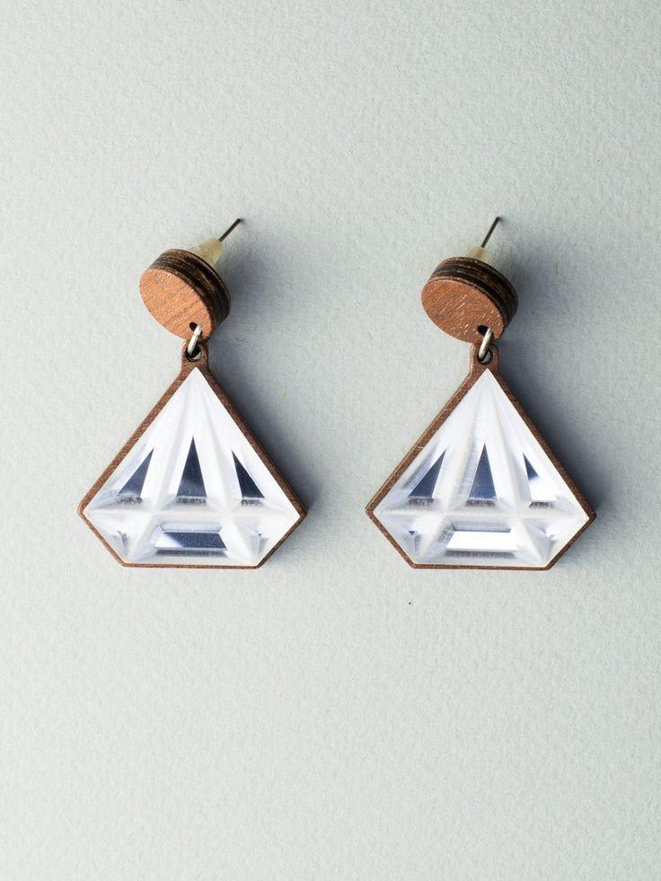 Mirror Diamond Earrings by Carla Szabo #jewelry #design #earrings
