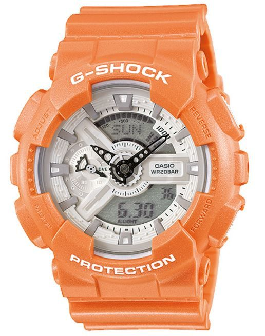 Casio's Mens GA-110SG-4A Quartz Digital and Analog LED Light G-Shock White Dial Resin Band  Watch  OUR PRICE $97.00  MSRP $130.00  VISIT ---- https://www.passthewatch.com/casio-s-mens-ga-110sg-4a-quartz-digital-and-analog-led-light-g-shock-white-dial-resin-band-watch.html