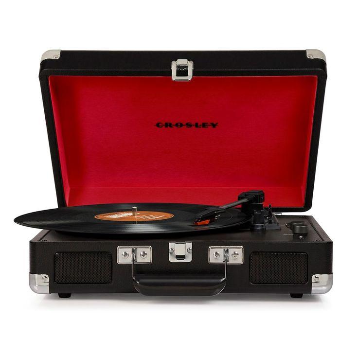 Crosley reg; Cruiser Portable Record Player - Black | Nostalgic Electronics  - Cracker Barrel Old Country Store