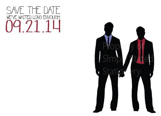 Gay Wedding Save The Dates Created By Simply Stated! Finally!