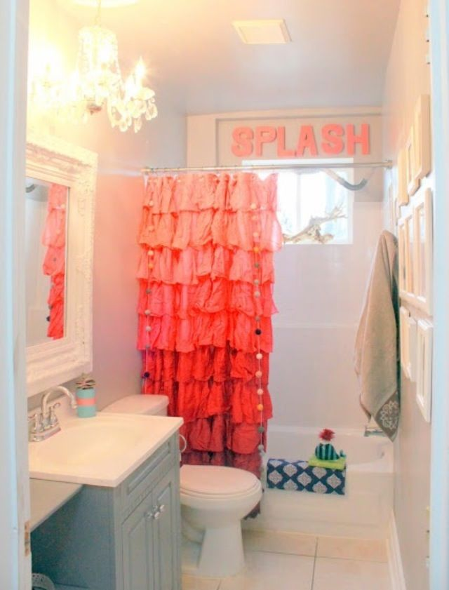 Cute for a teenagers or little girls bathroom
