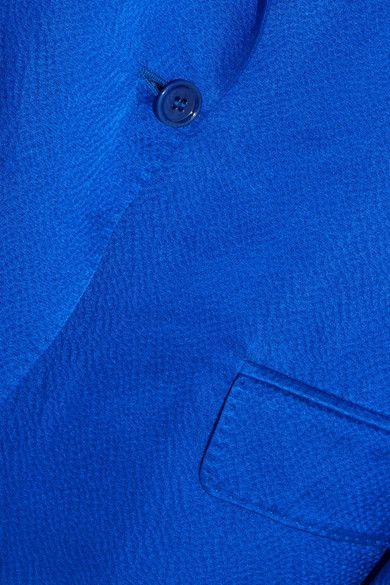 Max Mara - Hammered Silk-satin Blazer - Royal blue - UK10