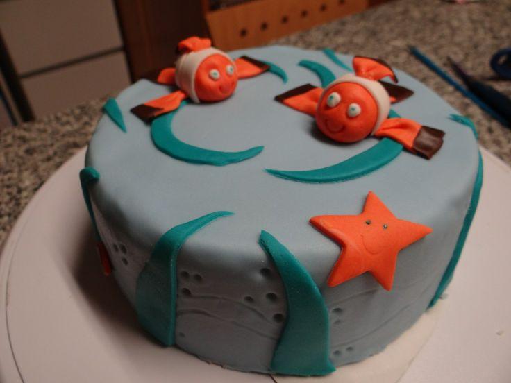 Petit gâteau au joghurt (orange canelle), fourré crème au beurre aux amandes avec un peu de fleur d'oranger