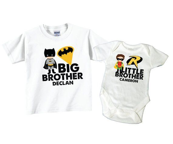 54b7b6c7 Personalized Big Brother Shirts and Matching Superhero Little Brother Shirts