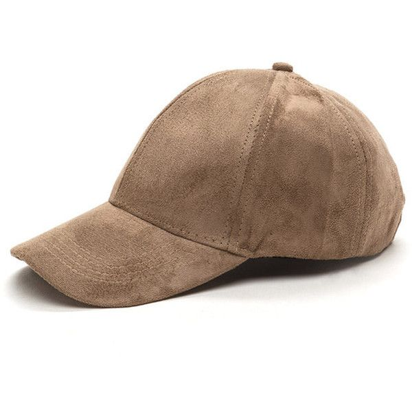 TAN Real Player Faux Suede Baseball Cap ($8.56) ❤ liked on Polyvore featuring accessories, hats, tan, velcro hat, baseball caps, 6 panel hat, brimmed hat and tan ball cap