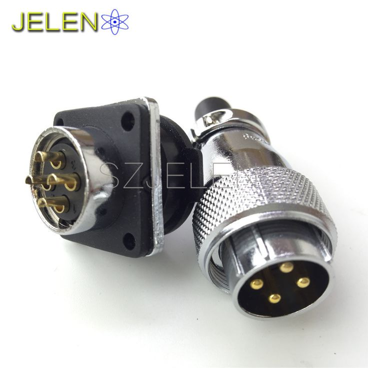 WS20, power connector 4 pin plug socket, Rated current 25A, Electrical equipment power cable connector, 4 pin connectors