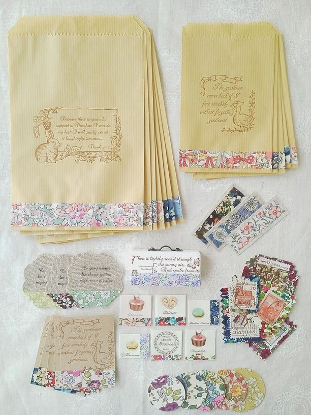 Liberty gift bags and labels