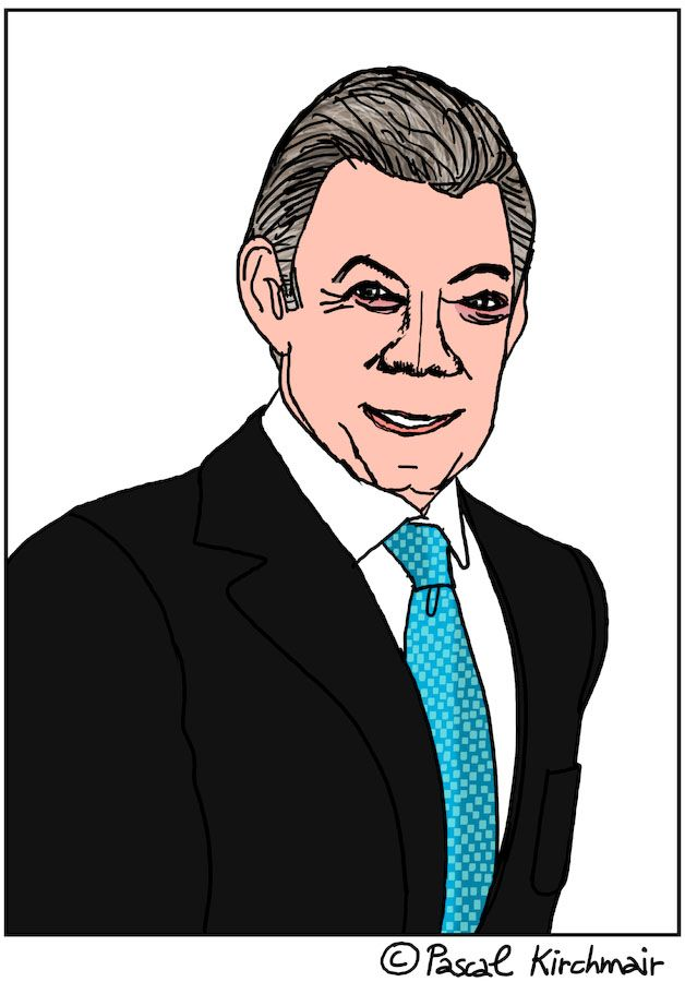 JUAN MANUEL SANTOS (born 10 August 1951) is the 32nd and current President of Colombia and sole recipient of the 2016 Nobel Peace Prize.
