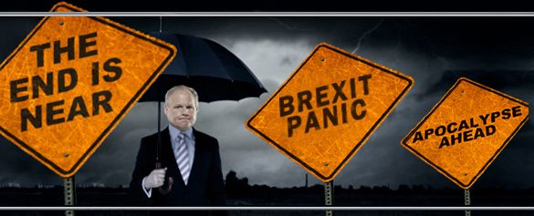 RUSH: How did this happen, folks?  The stock market came back, futures are up 100 points, sky isn't falling, wizards of smart said that the world's financial markets were gonna go to hell all because of the Brexit vote.  Sounds familiar, doesn't it? Everything happens predictably except when the doom and gloom sets in, they want you to believe it's permanent and it's all over.  And, sadly, it works.