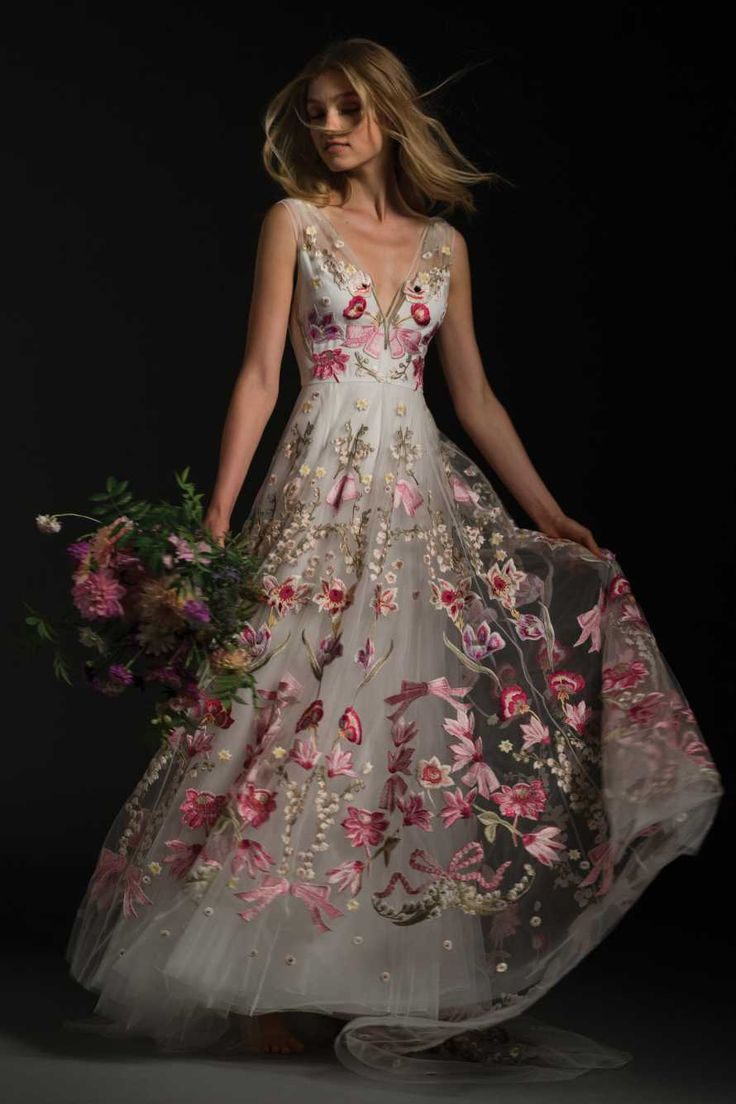 BIBI DRESS by Temperley London Exquisite coloured embroidery on fine mesh overdress.