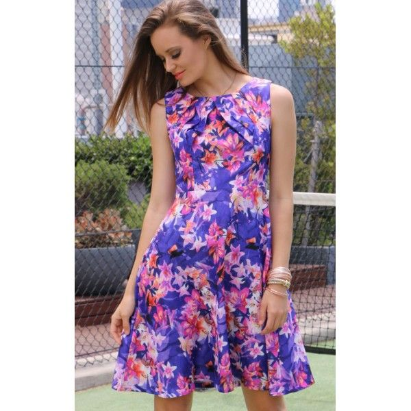 Usai Floral Party Dress + Belt